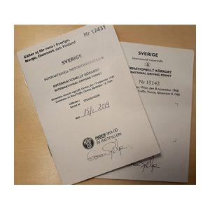 Material till Internationella körkort